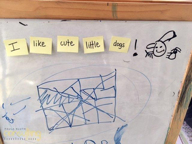 Sticky note sentence